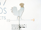 untitled / weather vane (the future will be chrome), 2008